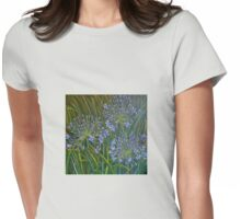 Blue agapanthus 2006 Acrylic on canvas Womens Fitted T-Shirt