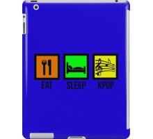 EAT SLEEP KPOP BOLD - BLUE iPad Case/Skin