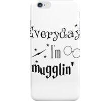 Everyday I'm Mugglin harry potter iPhone Case/Skin