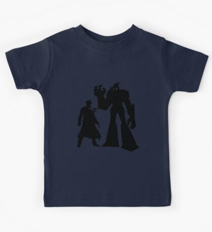 Colt and Petey, Crimefighters (Black) Kids Tee