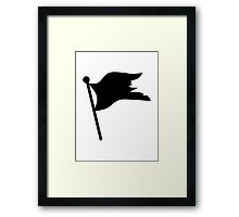 Black pirate flag Framed Print