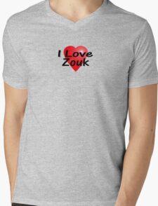 I Love Zouk T-Shirt Mens V-Neck T-Shirt