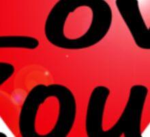 I Love Zouk T-Shirt Sticker