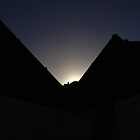Sun over roof by StolenName