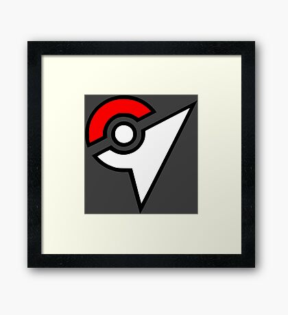Pokemon - Gym Logo Framed Print