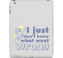 """Derpy Hooves / Ditzy Doo """"I just don't know what went wrong"""" iPad Case/Skin"""