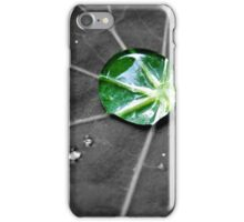 Single Green Raindrop iPhone Case/Skin
