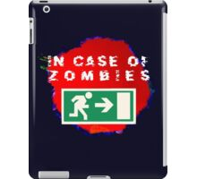 In Case of Zombies (blue/black background) iPad Case/Skin