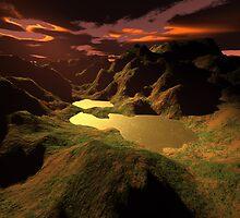 The Golden Lake by Gaspar Avila