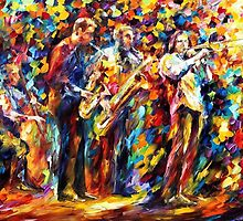 Jazz Band — Buy Now Link - www.etsy.com/listing/225886018 by Leonid  Afremov