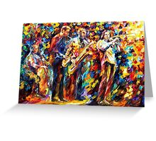Jazz Band — Buy Now Link - www.etsy.com/listing/225886018 Greeting Card