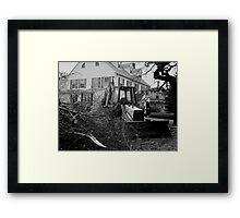 The Masons Lodge: Ice Storm Series Monochrome Framed Print