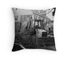 The Masons Lodge: Ice Storm Series Monochrome Throw Pillow