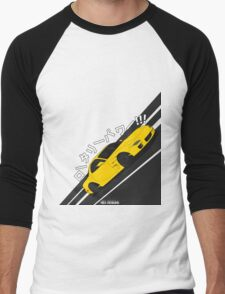 Mazda RX7 FD - Rotary Power (Yellow) Men's Baseball ¾ T-Shirt