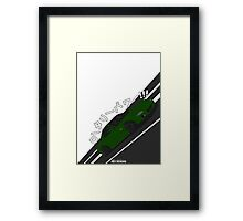Mazda RX7 FD - Rotary Power (Green) Framed Print