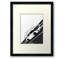 Mazda RX7 FD - Rotary Power (White) Framed Print