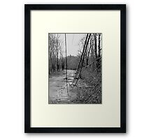 Old Westminster Rd Hubardston MA: Ice Storm Series Monochrome Framed Print
