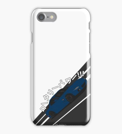 Mazda RX7 FD - Rotary Power (Blue) iPhone Case/Skin