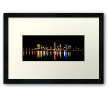 Perth, Western Australia, at night Framed Print