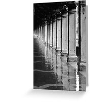 FLOODED ST MARKS SQUARE  Greeting Card