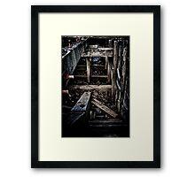 Derelict Barge Framed Print