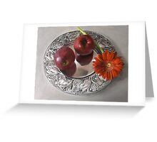 2 apples a day... Greeting Card