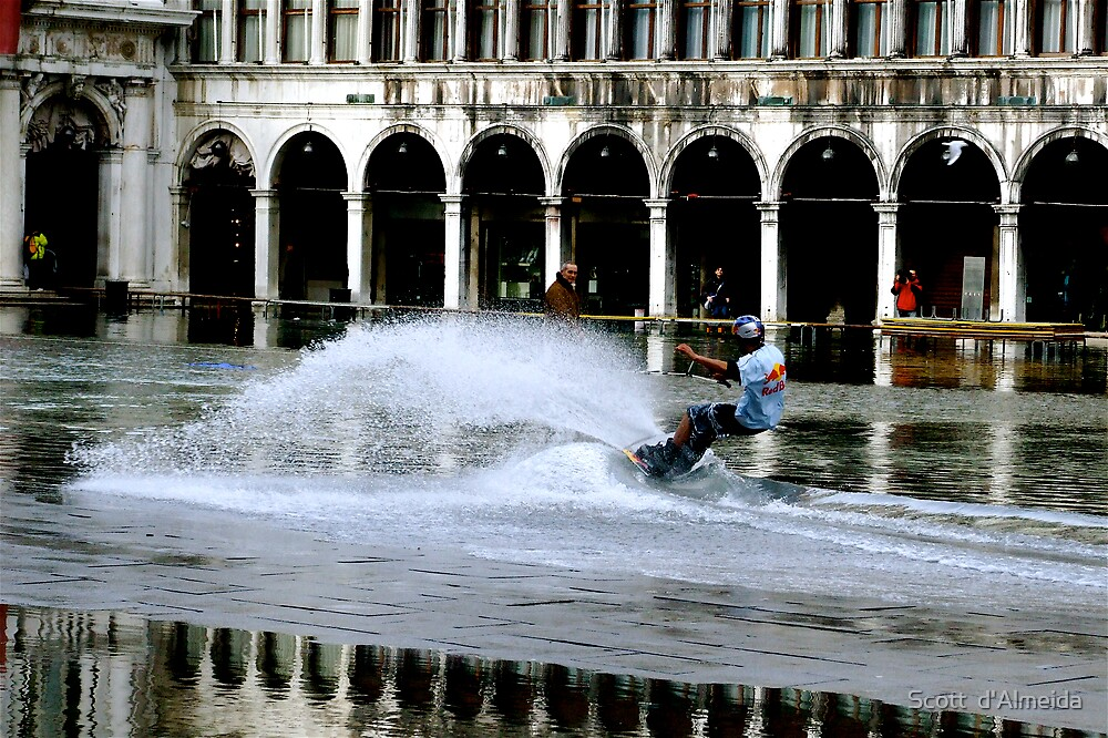 WAKEBOARDING IN ST MARKS SQUARE by Scott  d'Almeida