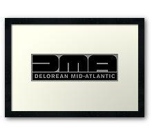 DeLorean Mid-Atlantic Logo Black Framed Print