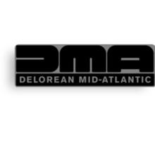 DeLorean Mid-Atlantic Logo Black Canvas Print