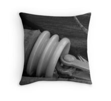 Cermaic Insulated Conductor: Ice Storm Series Monochrome Throw Pillow