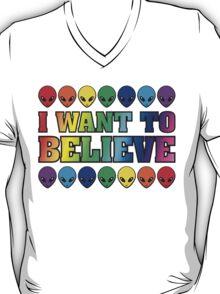 Rainbow I Want to Believe T-Shirt