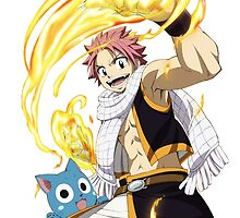 Fairy Tail Natsu and Happy by Athen Stringer