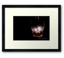 Vintage Kerosene Lamp Detail | Old Bethpage, New York  Framed Print