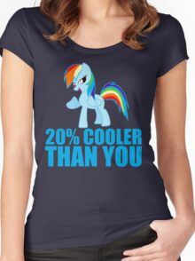 Rainbow Dash: 20% Cooler Than You Women's Fitted Scoop T-Shirt