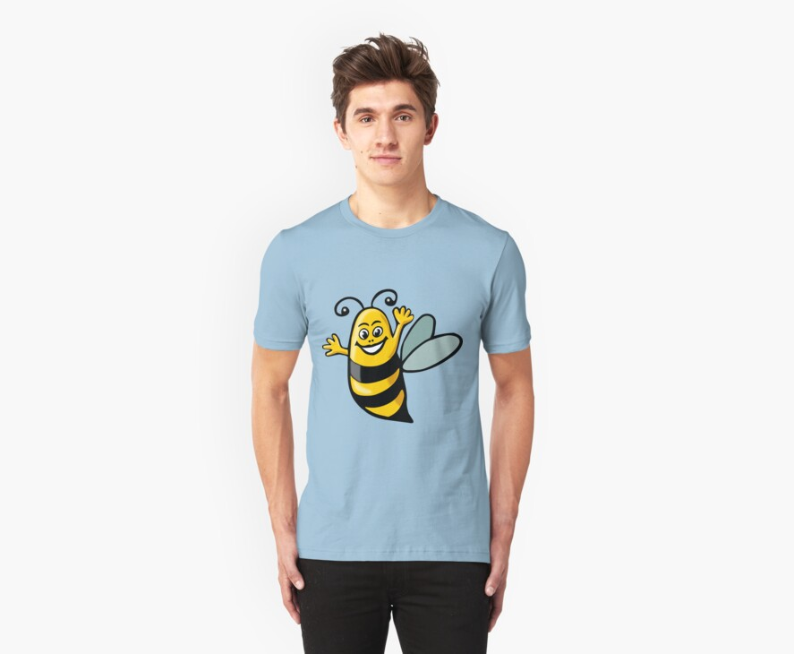 Happy Bee by Artberry