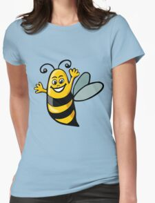 Happy Bee Womens Fitted T-Shirt