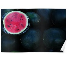red watermelon Poster