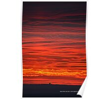 Burning Evening Sky | Rocky Point, New York  Poster