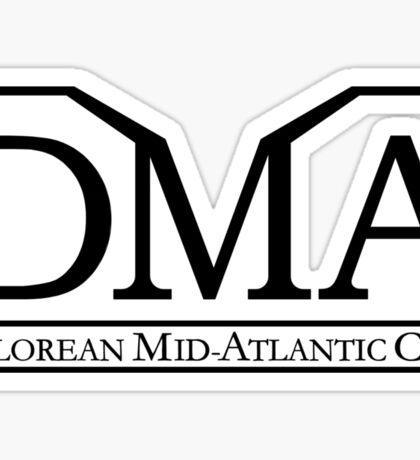 DeLorean Mid-Atlantic Official Logo Black Sticker