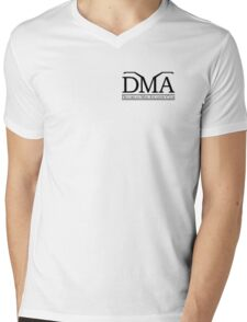 DeLorean Mid-Atlantic Official Logo Black Badge Mens V-Neck T-Shirt