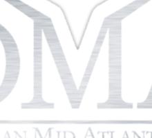 DeLorean Mid-Atlantic Official Logo Brushed Sticker