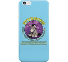 Stubborn Donkey Plush (light blue) iPhone Case/Skin