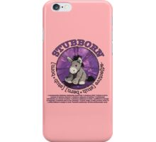 Stubborn Donkey Plush (pink) iPhone Case/Skin