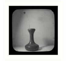 Vase B&W TTV Art Print