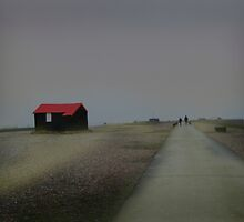 The Hut Rye Harbour by scarlet james