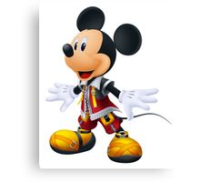 Kingdom Hearts King Mickey Canvas Print