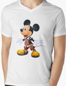 Kingdom Hearts King Mickey Mens V-Neck T-Shirt