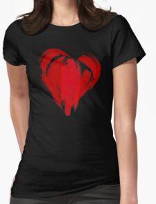 GRAFFITI HEART Womens Fitted T-Shirt