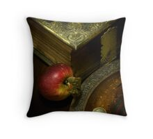 The Bible and Collection Plate Throw Pillow