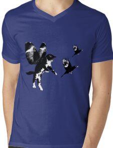 Flying Cat Mens V-Neck T-Shirt